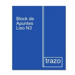 Block de Apuntes Liso N3 TRAZO Premium