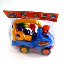Camioncito con herramientas desarmable