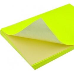Etiqueta  A4 Adhesivo FLUO x 100 hojas