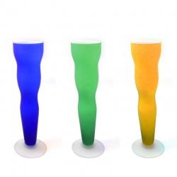 Florero de vidrio x 1 varios motivos (copa)