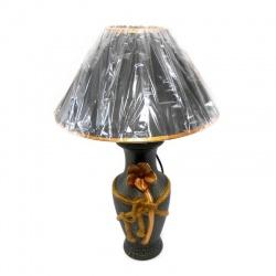 Lampara portátil para mesa de luz en cerámica verde oscuro