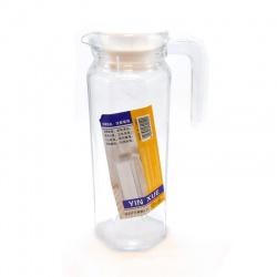 Jarra de vidrio con tapa de plástico 1litro