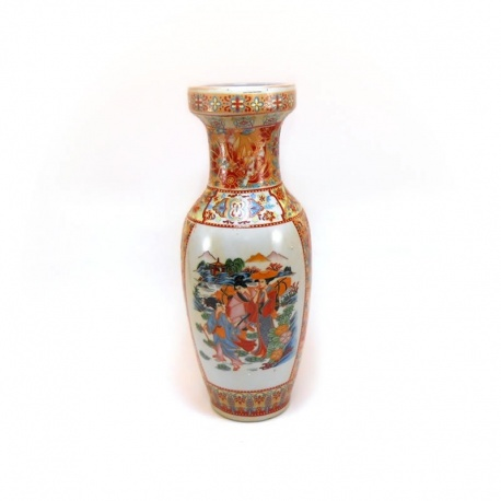 Florero cerámica motivo oriental F003