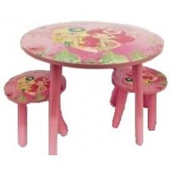 Mesa de frutillita con 2 taburetes