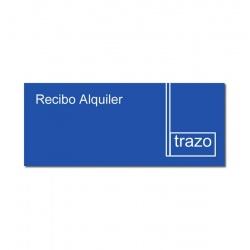 Formulario Recibo Alquiler Chico TRAZO x 10 Unidades