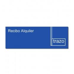 Formulario Recibo Alquiler Grande TRAZO x 10 Unidades