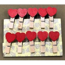 Palillos Decorativos Corazón Rojo I.139