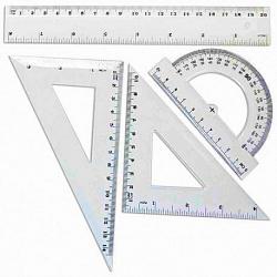 Juego de Geometría 20cm Grueso estuche PVC