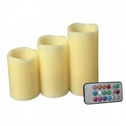 Velas LED x 3 con Control