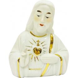 Busto Jesús sagrado corazón de porcelana