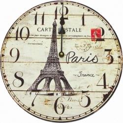 Reloj redondo de madera decorativa