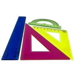 Juego de Geometría 20cm cristal económica