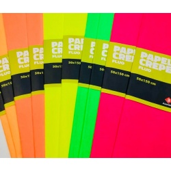 Papel Crepe Fluo Neon