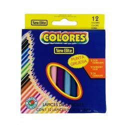 Lápices de color x 12 cortos