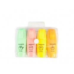 Resaltador pastel mini x4