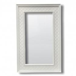 Espejo 60x90cm Marco blanco grande I.413