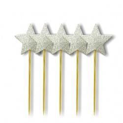 Palillos estrella 5 Piezas I.243