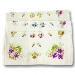 Pañuelo dama flores 12 unidades