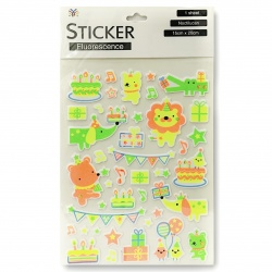 Sticker infantil fluo i.1193/94