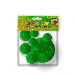 Bolsa de Plush verdes para Goma Eva