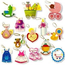 Tarjetitas de Bebé x 160 Unidades