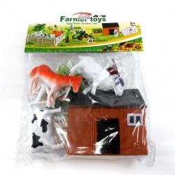 Bolsa granja de animales con establo