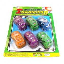 Set de autos x6 Challenger Transcend blister