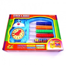 Ábaco con reloj en caja 596