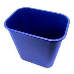 Papelera rectangular de plástico
