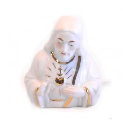 Busto Jesús sagrado corazón de porcelana con luz