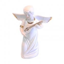 Ángel con guitarra de porcelana