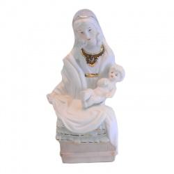 Virgen con niño de porcelana