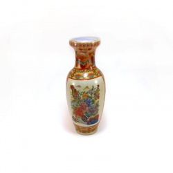 Florero cerámica motivo oriental