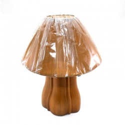 Lampara portátil para mesa de luz en cerámica tipo madera