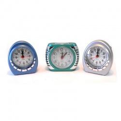 Reloj despertador x1 metalizado