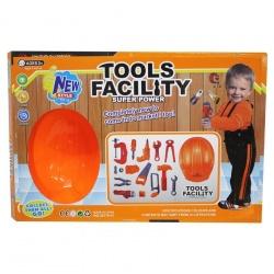 juego de herramientas con casco