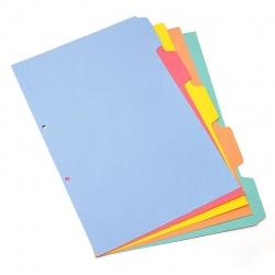 Índice Para Biblioratos Plástico Color