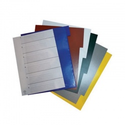 Índice Para Biblioratos PVC Color
