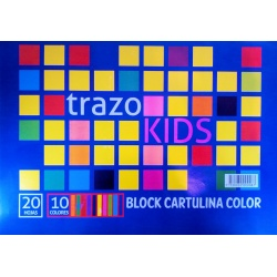 Block A4 Cartulina Color TRAZO