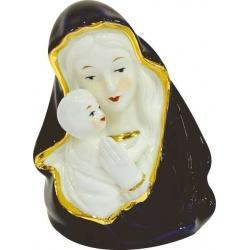 Virgen con niño y luz de porcelana