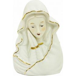 Busto virgen de porcelana con luz
