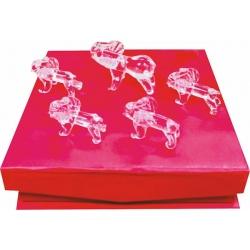 elefantes de cristal x 5