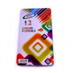 Lápices de colorear x 12 colores en lata
