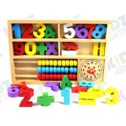 Números con Ábaco Madera TRAZO PLAY