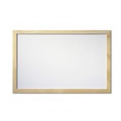 Pizarra blanca marco madera 50x70