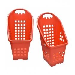 Canasto cesto plástico con rueditas