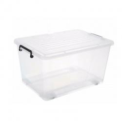 Caja Plastica transparente con ruedas