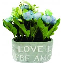Macetero Ceramica con flores