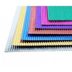Cartón Flauta Micro Corrugado Metalizado
