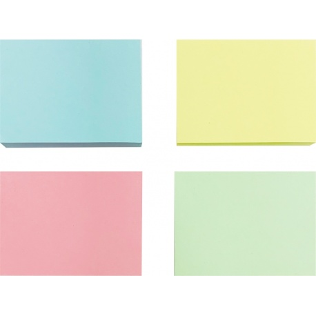 Papel adhesivo 76x100mm 4 colores